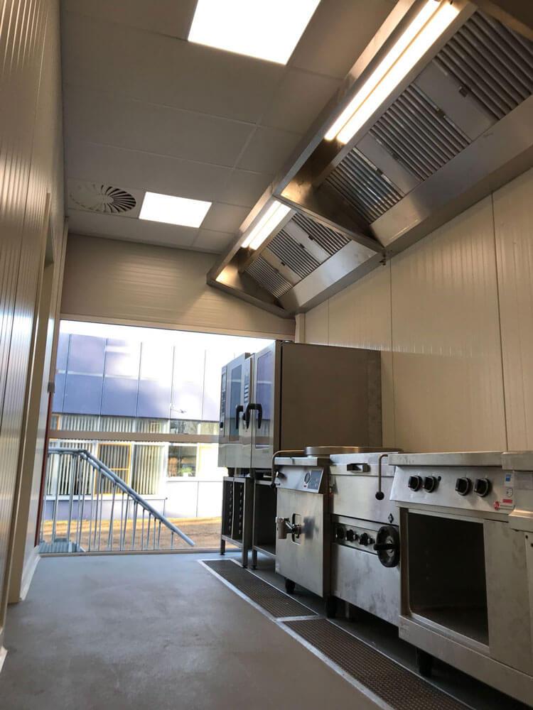 Tijdelijke keuken en kantine - productiekeuken