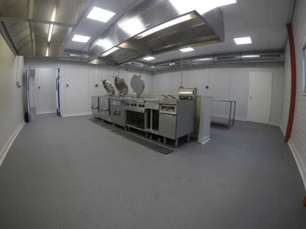 Deurne belgie tijdelijke keuken binnenkant